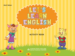 Let's Learn English: Activity book